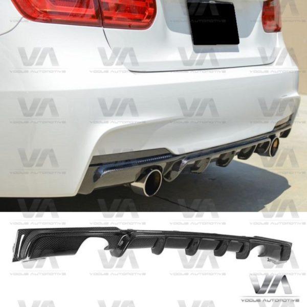 BMW 3 Series F30 F31 M Sport PERFORMANCE Style CARBON FIBER Dual Exhaust Rear Diffuser