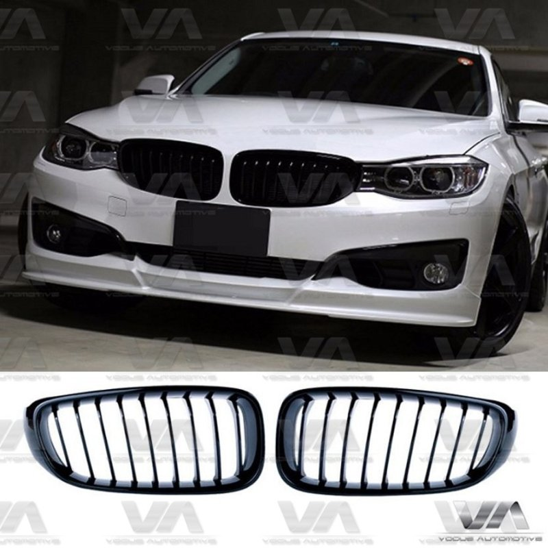 BMW 3 Series F34 GT GLOSS BLACK Single Kidney Grilles