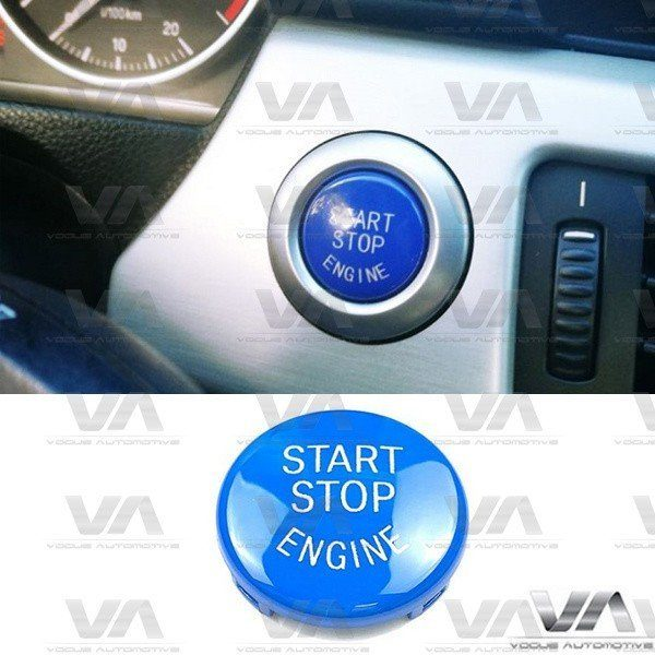 BMW 3 5 6 X3 X5 X6 SERIES E60 E90 E92 E70 E71 E86 E89 Start Stop Engine BLUE Button