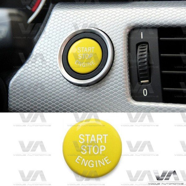 BMW 3 5 6 X3 X5 X6 Series E60 E90 E92 E70 E71 E86 E89 Start Stop Engine YELLOW Button