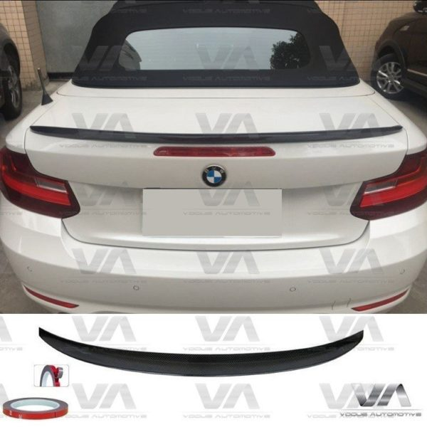 BMW 2 Series F23 Convertible PERFORMANCE CARBON FIBER Boot Spoiler