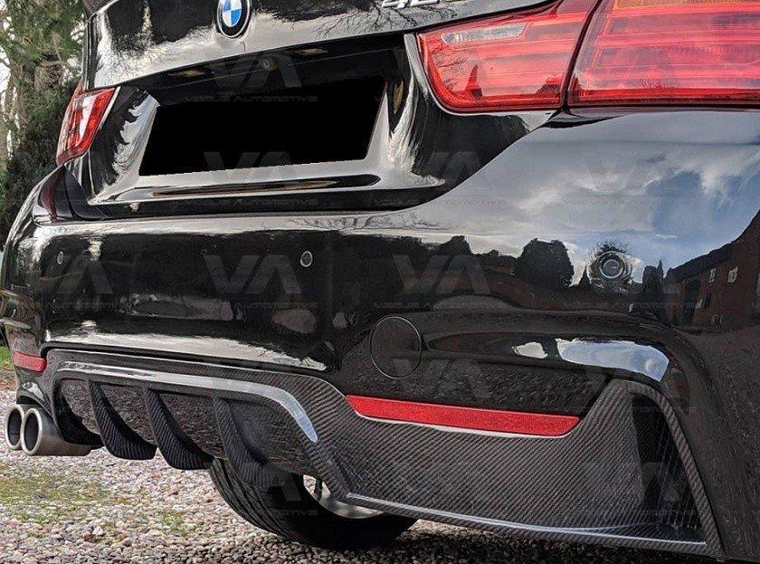 BMW 4 Series F32 F33 F36 M Sport PERFORMANCE CARBON FIBER Twin Exhaust Rear Diffuser