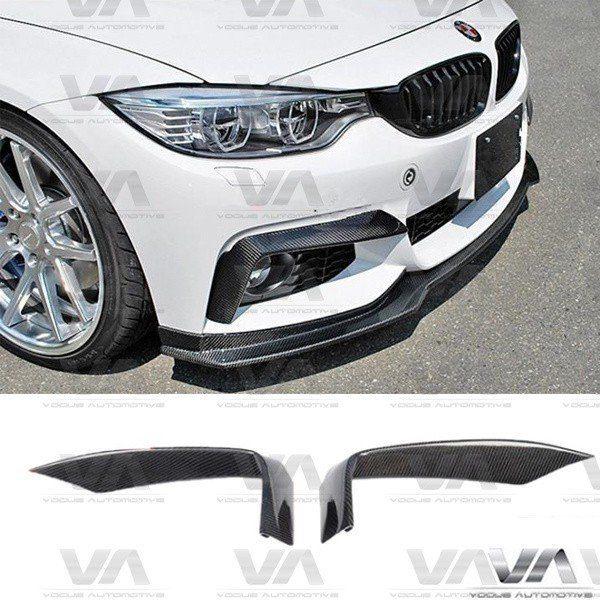 BMW 4 Series F32 F33 F36 M Sport CARBON FIBER Front Upper Corner Splitters