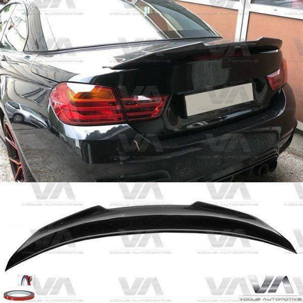 BMW 4 Series M4 F33 F83 PSM Style CARBON FIBER Boot Spoiler