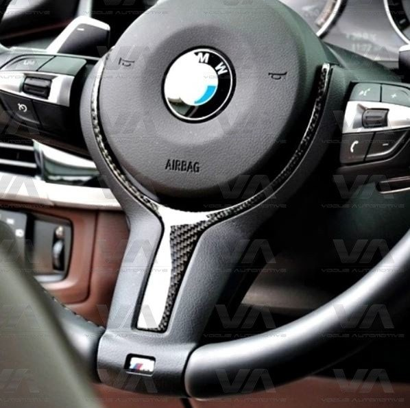 BMW 1 2 3 4 Series F20 F21 F22 F30 F31 F32 F34 CARBON FIBER Steering Wheel Trim