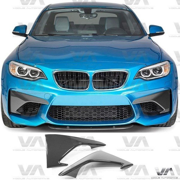 BMW M2 F87 PERFORMANCE Style CARBON FIBER Front Upper Corner Canards