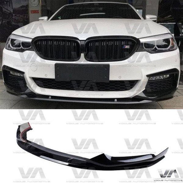 BMW 5 Series G30 G31 M Sport PERFORMANCE Style GLOSS BLACK Front Splitter