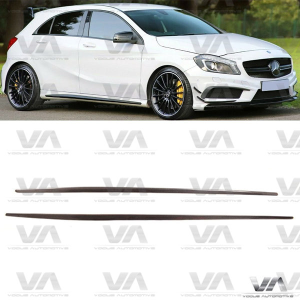 MERCEDES-BENZ A Class W176 CLA W117 AMG Style CARBON FIBER Side Skirts