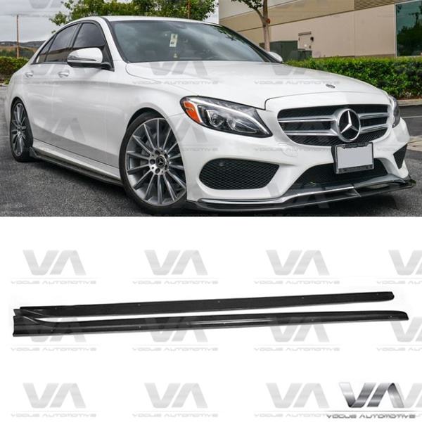 MERCEDES-BENZ C Class W205 C63 AMG Style CARBON FIBER Side Skirts