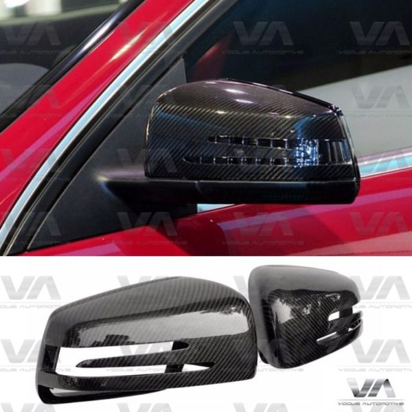 MERCEDES-BENZ A C E S Class CLS W176 C207 W212 Replacement CARBON FIBER Mirror Covers