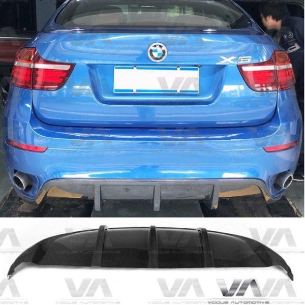 BMW X6 E71 M Sport CARBON FIBER Rear Diffuser