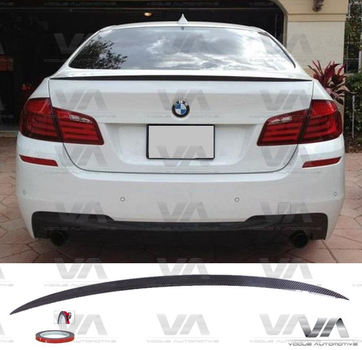 BMW 5 Series F10 M5 Style CARBON FIBER Boot Spoiler