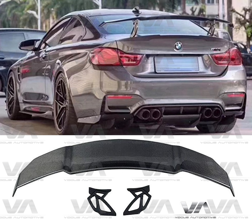 BMW M3 M4 F80 F82 VRS GT Style CARBON FIBER Wing Boot Spoiler