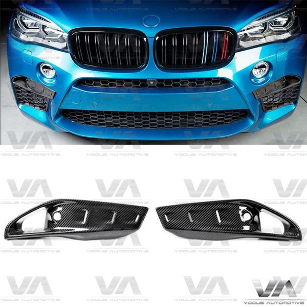 BMW X5M X6M F85 F86 CARBON FIBER Front Upper Inserts