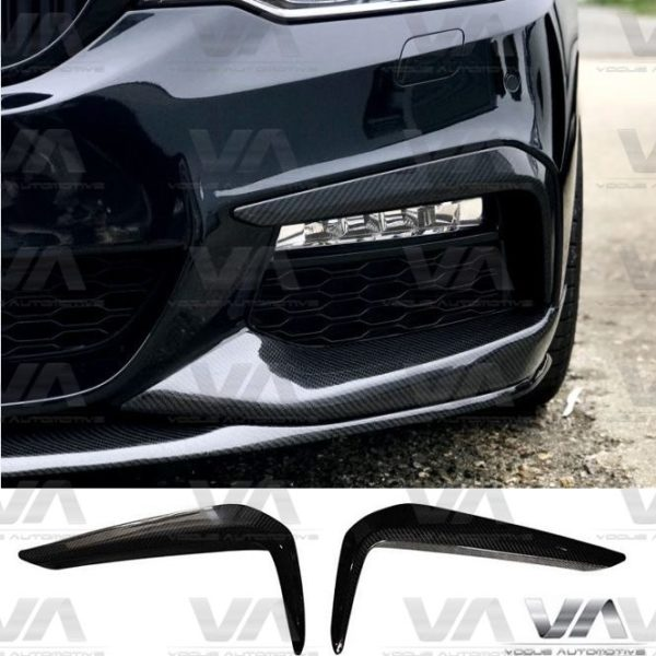 BMW 5 Series G30 G31 M Sport CARBON FIBER Upper Corner Canards