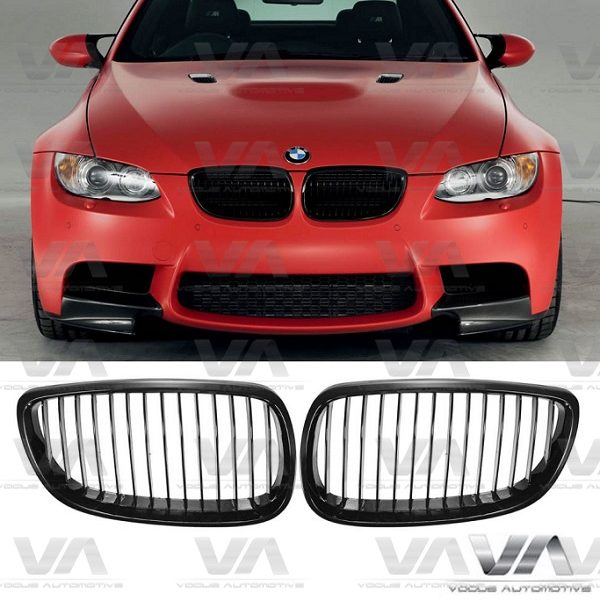 BMW 3 Series E92 E93 M3 Pre LCI GLOSS BLACK Single Kidney Grilles
