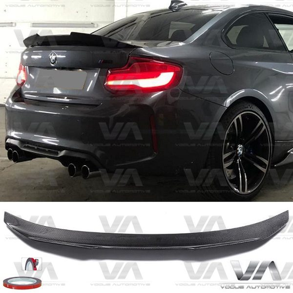 BMW 2 Series F22 F87 PSM Style CARBON FIBER Boot Spoiler