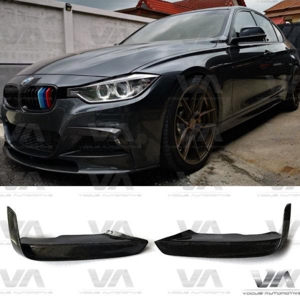 BMW 3 Series F30 F31 M Sport MAD Style CARBON FIBER Upper Corner Canards