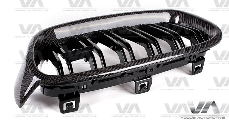 BMW 3 Series F30 F31 CARBON FIBER Double Kidney Grilles