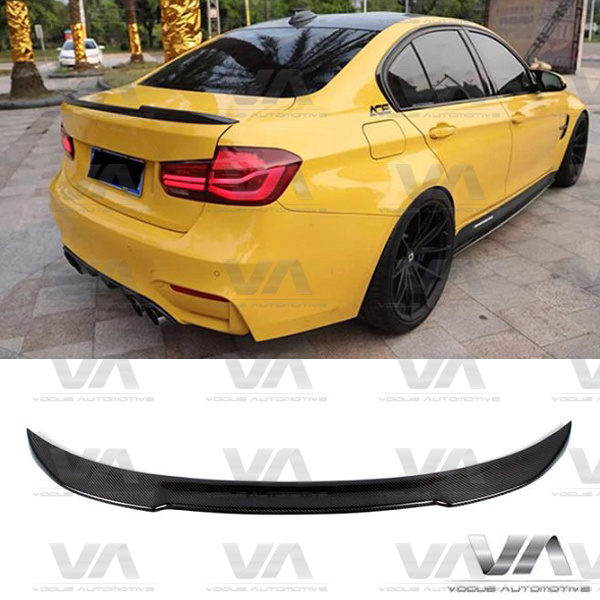 BMW 3 Series F30 F80 M3 CS Style CARBON FIBER Boot Spoiler