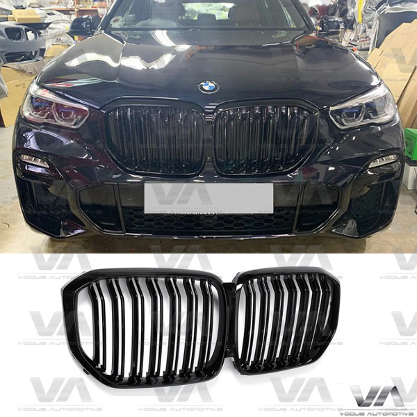 BMW X5 G05 M Style GLOSS BLACK DOUBLE Kidney Grilles