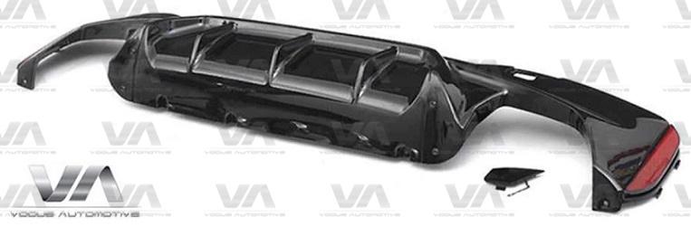 BMW 5 Series M Sport G30 M5 Style GLOSS BLACK Rear Diffuser