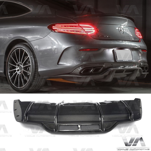 MERCEDES-BENZ C205 W205 COUPE C63 AMG PSM Style CARBON FIBER Rear Diffuser