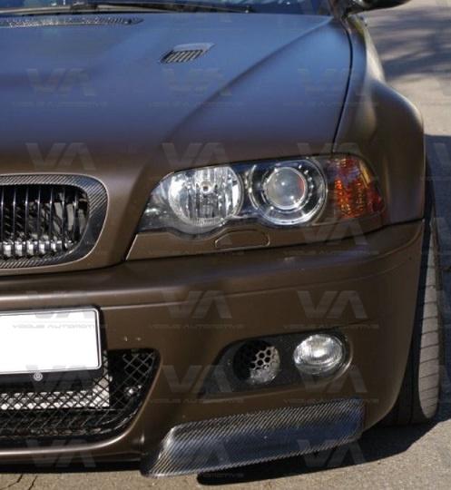 BMW M3 E46 CSL Style CARBON FIBER Corner Splitters