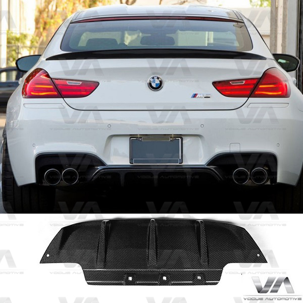 BMW M6 F06 F12 F13 PERFORMANCE Style CARBON FIBER Rear Diffuser