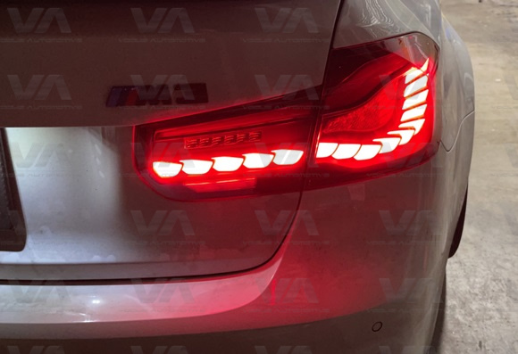 BMW 3 Series F30 M3 F80 CS GTS OLED Style RED Rear Tail Lights