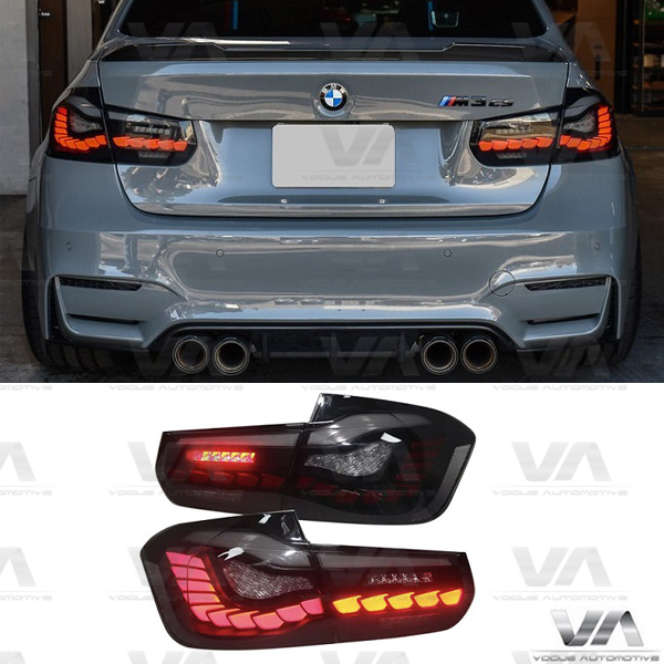 BMW 3 Series F30 M3 F80 CS GTS OLED Style SMOKED Rear Tail Lights