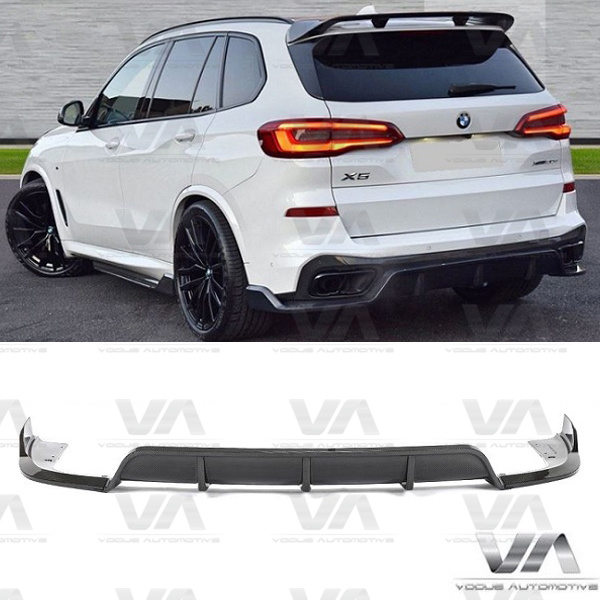 BMW X Series G05 X5 M Sport PERFORMANCE Style CARBON FIBER Rear Diffuser