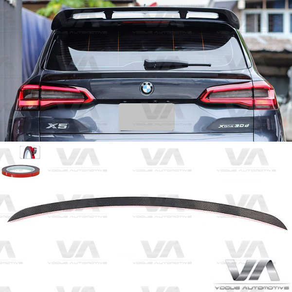 BMW X5 G05 M Sport PERFORMANCE Style CARBON FIBER Middle Boot Spoiler
