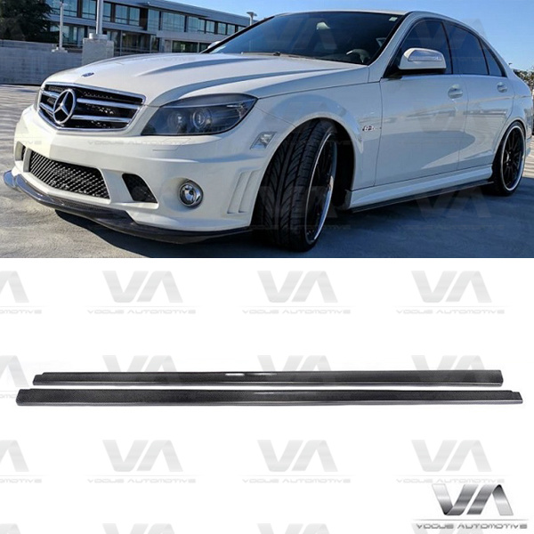 MERCEDES-BENZ C Class W204 C63 AMG CARBON FIBER Side Skirts