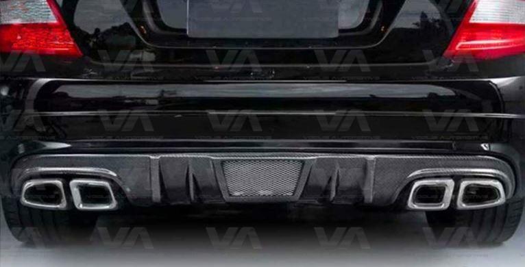 MERCEDES-BENZ W204 C63 AMG VRS Style CARBON FIBER Rear Diffuser Pre Facelift