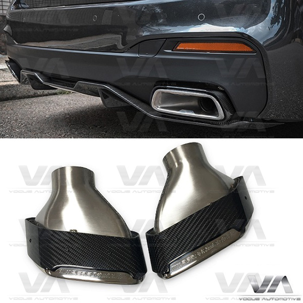 BMW 5 Series G30 G31 CARBON FIBER Exhaust Tips