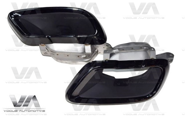 BMW X Series G05 G06 G07 Stainless Steel Shadow Line GLOSS BLACK Exhaust Tips
