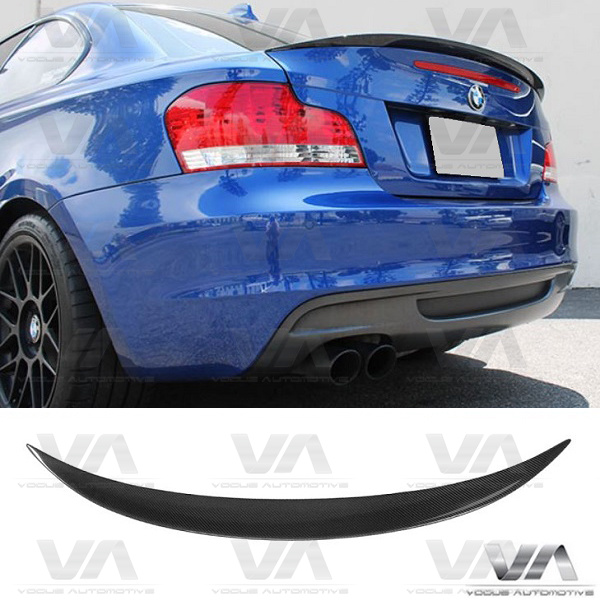 BMW 1 Series E82 PERFORMANCE Style CARBON FIBER Boot Spoiler
