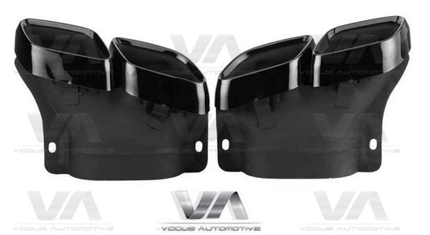 MERCEDES-BENZ A205 C205 W205 S205 AMG Stainless Steel GLOSS BLACK Exhaust Tips