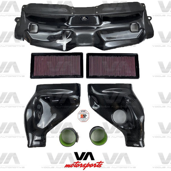 VA MOTORSPORTS MERCEDES-BENZ W204 C63 CARBON FIBER Cold Air Intake Induction Kit K&N