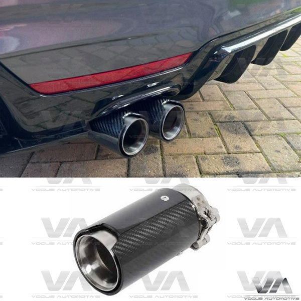 BMW F Series CARBON FIBER SILVER Exhaust Tip