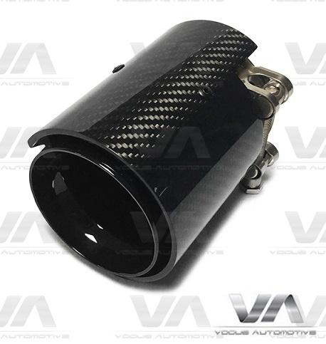 BMW M2 M3 M4 M5 CARBON FIBER BLACK Exhaust Tips