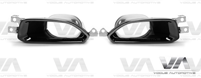 BMW G20 G21 m340i Style Stainless Steel GLOSS BLACK Exhaust Tips