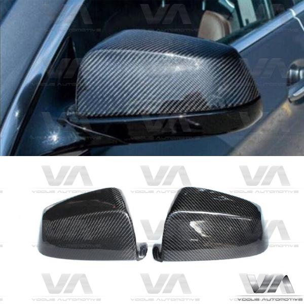 BMW E60 F10 F07 E63 F12 F01 Direct Replacement CARBON FIBER Mirror Covers