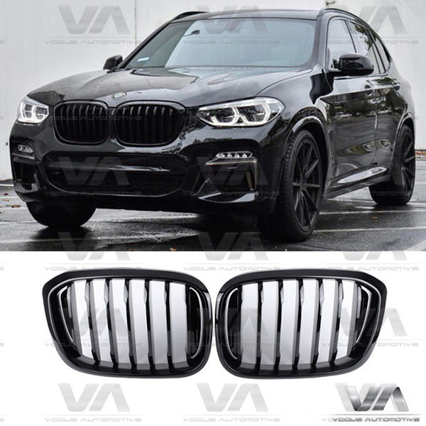 BMW X3 X4 G01 G02 PERFORMANCE Style GLOSS BLACK Kidney Grilles