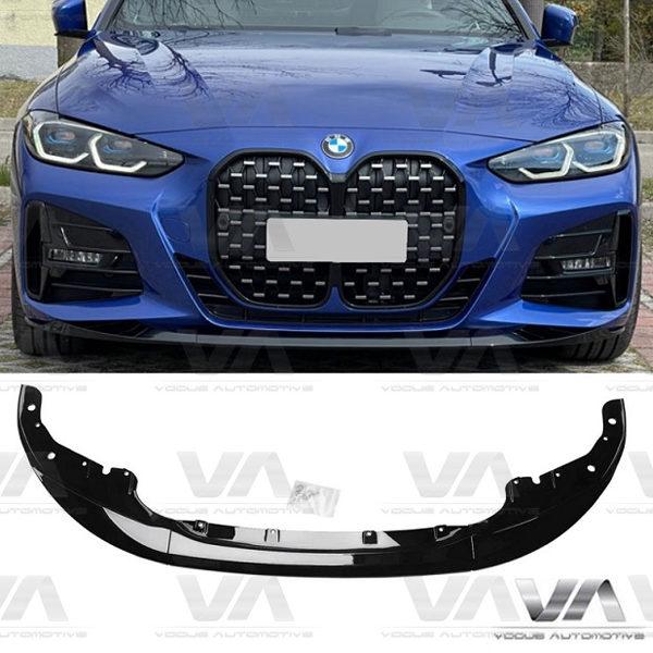 BMW 4 Series M Sport G22 G23 PERFORMANCE Style GLOSS BLACK Front Splitter