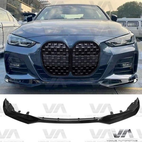 BMW 4 Series M Sport G22 G23 VRS Style GLOSS BLACK Front Splitter