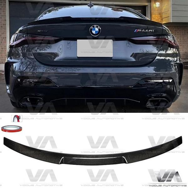 BMW 4 Series G22 M4 Style Prepreg CARBON FIBER Boot Spoiler