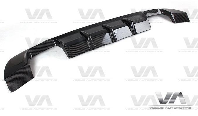 BMW 3 Series E92 E93 PERFORMANCE Style CARBON FIBER Quad Exhaust Rear Diffuser