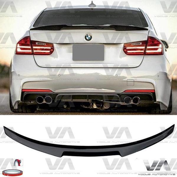 BMW 3 Series M3 F30 F80 M4 Style GLOSS BLACK Boot Spoiler